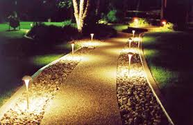image of how to install outdoor landscape lighting low voltage