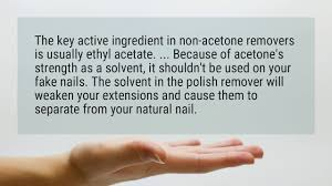 is acetone the same as nail polish remover