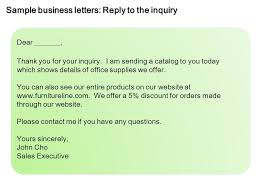 Letters Of Office Sample Business Letters Inquiry Ppt Video Online Download