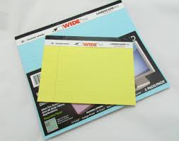 Wide Landscape Legal Pad Large And Small Legal Pads