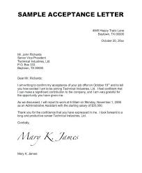 Offer Letter Acceptance Mail Format Reply Job Offer Accepting Letter Acceptance Mail Template