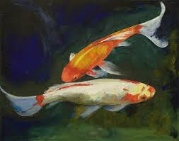 feng s painting feng s koi fish by michael creese