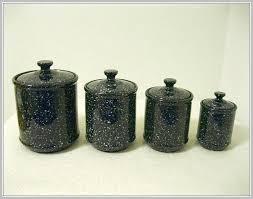black kitchen canisters sets