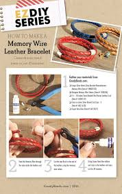 goodybeads blog how to make a memory wire leather bracelet