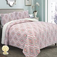 Buy 100% Cotton Quilts for Bedroom At (Discounted Price) - All ... & Vintage Pink Geometric Pattern - 3 Piece Quilt ... Adamdwight.com