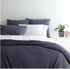 jersey knit duvet cover blue