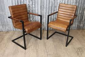 vintage style chairs. Wonderful Vintage Vintage Style Leather ArmchairThis Superb Quality Tan Dining Or  Occasional Chair Has Beautiful Stitching Detail Supported By A Black Steel Intended Style Chairs T