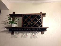 wine rack wall decor wooden mount image of mounted plans