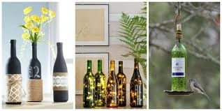 Decorating Empty Wine Bottles 100 DIY Wine Bottle Crafts Empty Wine Bottle Decoration Ideas 2