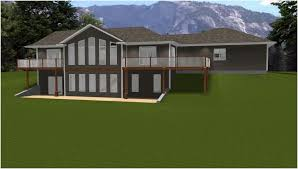 houses walk out basements walkout house plans country basement daylig size