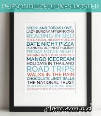 personalised boyfriend gift remember when couples poster