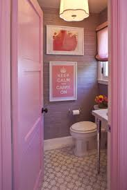 Bathroom:Modern Small Pink Bathroom With White Bathtub And Sink Idea  Bathroom Design With The