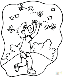 firefly coloring page fine picture the very lonely colouring pages printable jar