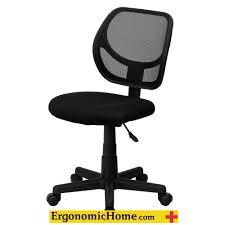 ergonomic home low back black mesh swivel task chair eh wa 3074 bk