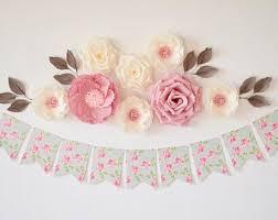 Paper Flower Decor Paper Flowers Wall Decor Etsy