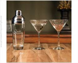 Personalized cocktail glasses Drinking Glass Martini Shaker With Glasses Custom Engraved Personalized Engraved Gifts Custom Engraved Martini Cocktail Shakers Personalized Martini