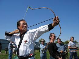 Asian bow and arrow