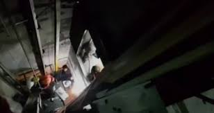 people stuck in elevator. six people trapped in elevator rescued stuck e