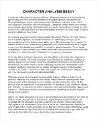 analysis essay samples character analysis