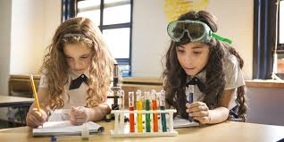 Girls in science teens