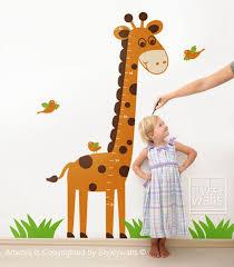 Giraffe Wall Decal Giraffe Growth Chart Nursery Wall Decal Jungle Wall Decal Kids Nursery Vinyl Wall Decal Baby Room Giraffe Wall Decor