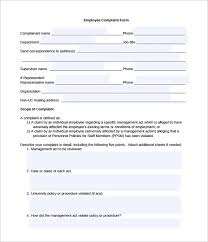 Employee Grievance Form Human Resources Professionals Complaint Form Cute Grievance Form