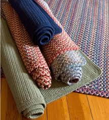 blue ridge rectangle wool braided rug