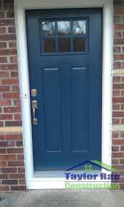 Decorating fiberglass entry doors : Simple but effective update to curb appeal. Blue fiberglass entry ...