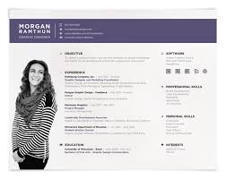 Unique Resume Formats Classy landscape resume format Creative Resumes Creative Resume Style
