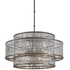luxury home lighting decoration with fantasia mercury glass kenzie mercury chandelier pottery barn