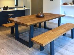 rustic dining table and chairs. Rustic-dining-table-with-bench-from-abacus-tables- Rustic Dining Table And Chairs