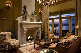 Golden Living Room Design