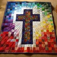 Cross Quilt Pattern Simple Beautiful Easter Or Whenever Quilt Quilts Pinte