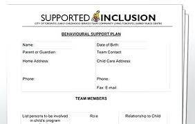 behavior support plan template. Behavior Support Plan Template Creating A Behaviour Support Plan