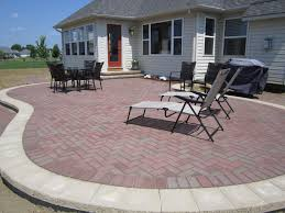 simple brick patio designs. Simple And Beautiful Raised Brick Pavers Patio Installed - Deck Designs A