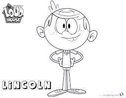 Delightful Design Loud House Coloring Pages How To Draw Lincoln 123