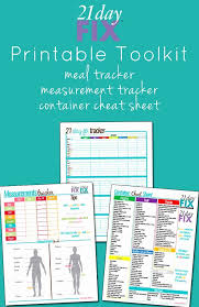 Day Tracker Planner 21 Day Fix Tracker Sheet Luxury 21 Day Fix Printable Tools