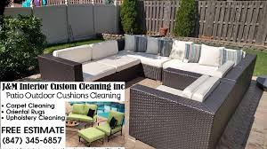 Outdoor Patio Cushions Cleaning J&M Interior Custom Cleaning Inc