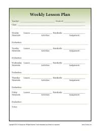 Weekly Lesson Plan Templates Weekly Detailed Lesson Plan Template Secondary