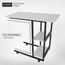 White work desk Choice Products Warm White Movable Work Desk Wheels Layers Writing Computer Stand Rectangle Ebay Warm White Movable Work Desk Wheels Layers Writing Computer Stand