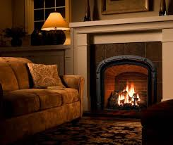 living room with fireplaces