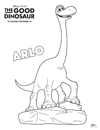 Small Picture Free Disney The Good Dinosaur Arlo Coloring Page Printable