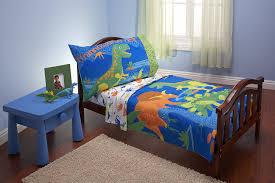 dinosaur bedroom set. amazon.com : everything kids 4 piece toddler bedding set, dinosaurs bed sheets boy baby dinosaur bedroom set