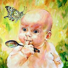 baby painting erfly baby by angel egle wierenga