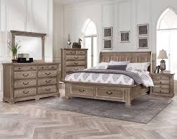Driftwood Bedroom Furniture Woodlands Sleigh Storage Bedroom Set Driftwood Vaughan Bassett