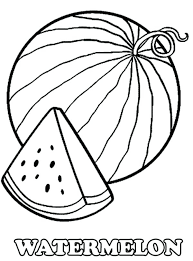 a slice of fresh watermelon coloring page pages heart