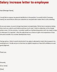 Salary Letters From Employer Salary Increase Letter Template To Employee Redstavern Info