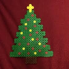 Christmas Decor Inspirations  Ideas Of Beautiful Christmas Perler Beads Christmas Tree