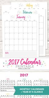 2017 free printable calendars