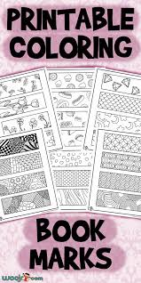 Laminate them to use them over and over again! Printable Coloring Bookmarks Woo Jr Kids Activities